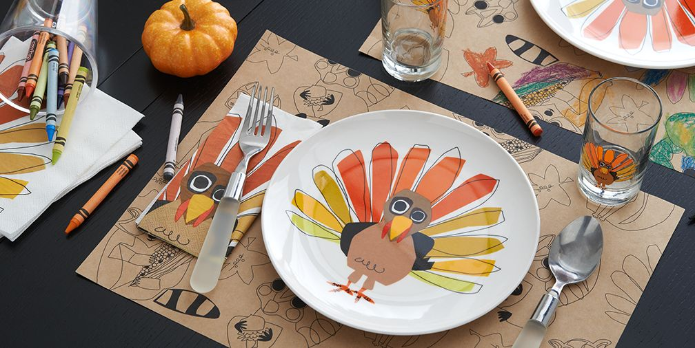Thanksgiving Kids Table Setting